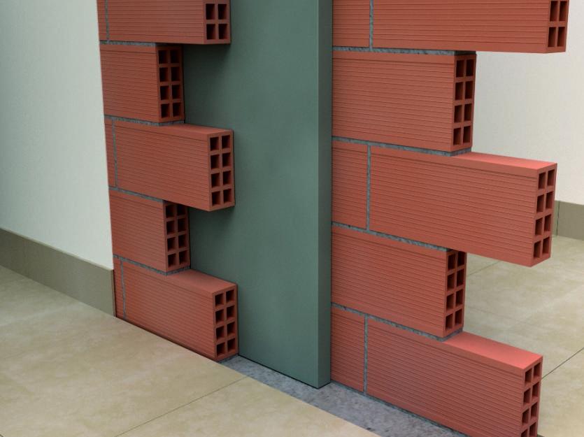 Fachadas aislante intermedio - Cerramiento vertical